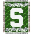 "Michigan State Spartans NCAA College Baby 36"" x 46"" Triple Woven Jacquard Throw"