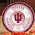 "Indiana Hoosiers NCAA College 14"" Ceramic Chip and Dip Tray"