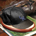 Colorado Rockies MLB Baseball Cap Figurine