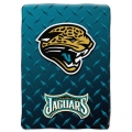"Jacksonville Jaguars NFL ""Diamond Plate"" 60' x 80"" Raschel Throw"