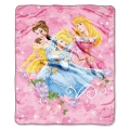 "Princess Jewels and Flowers Entertainment 50"" x 60"" Micro Raschel Throw"