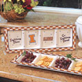 Illinois Illini NCAA College Gameday Ceramic Relish Tray