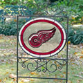 Detroit Redwings NHL Stained Glass Outdoor Yard Sign