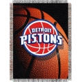 "Detroit Pistons  NBA ""Photo Real"" 48"" x 60"" Tapestry Throw"