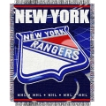 "New York Rangers NHL 48"" x 60"" Triple Woven Jacquard Throw"