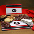 Georgia UGA Bulldogs NCAA College Glass Cutting Board Set