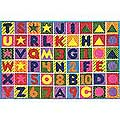 Numbers & Letters Rug (8' x 11')