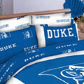 Duke Blue Devils 100% Cotton Sateen Standard Pillowcase - White