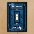 Seattle Seahawks NFL Art Glass Single Light Switch Plate Cover
