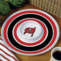 "Tampa Bay Buccaneers NFL 14"" Round Melamine Chip and Dip Bowl"