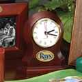Tampa Bay Devil Rays MLB Brown Desk Clock
