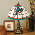Miami Dolphins NFL Stained Glass Tiffany Table Lamp