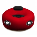 Georgia Bulldogs NCAA College Vinyl Inflatable Chair w/ faux suede cushions