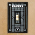 Oakland Raiders NFL Art Glass Single Light Switch Plate Cover