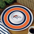 "Denver Broncos NFL 14"" Round Melamine Chip and Dip Bowl"
