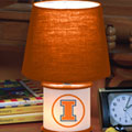 Illinois Illini NCAA College Accent Table Lamp