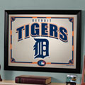 Detroit Tigers MLB Framed Glass Mirror
