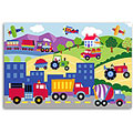 Olive Kids Trains, Planes and Trucks Unframed Art Print