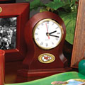 Kansas City Chiefs NFL Brown Desk Clock