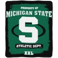 "Michigan State Spartans College ""Property of"" 50"" x 60"" Micro Raschel Throw"