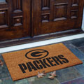 Green Bay Packers NFL Rectangular Outdoor Flocked Door Mat