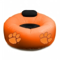 Clemson Tigers NCAA College Vinyl Inflatable Chair w/ faux suede cushions