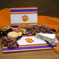 Clemson Tigers NCAA College Glass Cutting Board Set