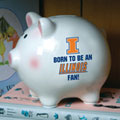 Illinois Illini NCAA College Ceramic Piggy Bank