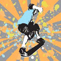 Skater Cool - Contemporary mount print with beveled edge
