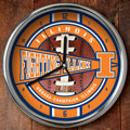 "Illinois Illini NCAA College 12"" Chrome Wall Clock"