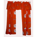 Clemson Tigers Short Window Drapes - 63""