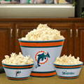 Miami Dolphins NFL Melamine 3 Bowl Serving Set