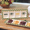 Green Bay Packers NFL Gameday Ceramic Relish Tray