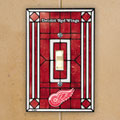 Detroit Redwings NHL Art Glass Single Light Switch Plate Cover