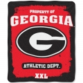 "Georgia Bulldogs College ""Property of"" 50"" x 60"" Micro Raschel Throw"