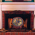New York Mets MLB Stained Glass Fireplace Screen