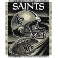 "New Orleans Saints NFL ""Spiral"" 48"" x 60"" Triple Woven Jacquard Throw"