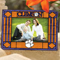 "Clemson Tigers NCAA College 6.5"" x 9"" Horizontal Art-Glass Frame"