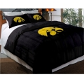 "Iowa Hawkeyes College Twin Chenille Embroidered Comforter Set with 2 Shams 64"" x 86"""