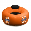 Illinois Fighting Illini NCAA College Vinyl Inflatable Chair w/ faux suede cushions