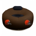 Cleveland Browns NFL Vinyl Inflatable Chair w/ faux suede cushions