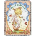 "Precious Moments Joyful Noise 48"" x 60"" Metallic Tapestry Throw"