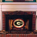 Georgia UGA Bulldogs NCAA College Stained Glass Fireplace Screen