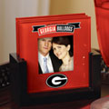 Georgia UGA Bulldogs NCAA College Art Glass Photo Frame Coaster Set