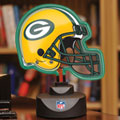 Green Bay Packers NFL Neon Helmet Table Lamp