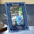 "Tennessee Titans NFL 9"" x 6.5"" Vertical Art-Glass Frame"