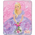 "Barbie Purple Rose Entertainment 50"" x 60"" Micro Raschel Throw"