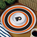 "Philadelphia Flyers NHL 14"" Round Melamine Chip and Dip Bowl"