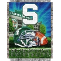 "Michigan State Spartans NCAA College ""Home Field Advantage"" 48""x 60"" Tapestry Throw"