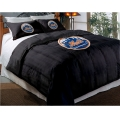 "New York Mets MLB Twin Chenille Embroidered Comforter Set with 2 Shams 64"" x 86"""